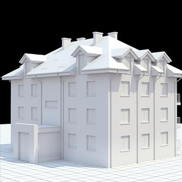 apartment building 3 3d model blend lwo lxo obj 111524