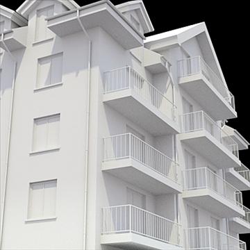 apartment building 3 3d model blend lwo lxo obj 111525