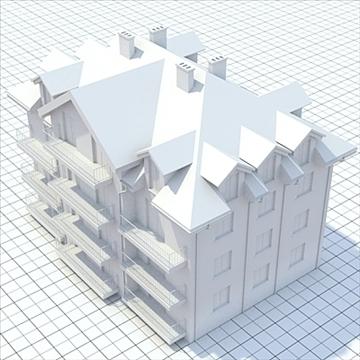 apartment building 3 3d model blend lwo lxo obj 111526