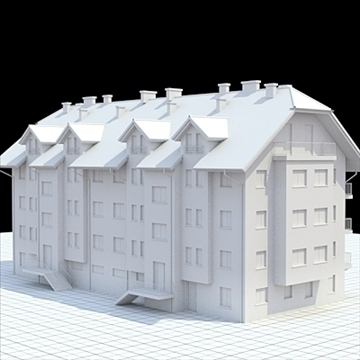 apartment house 1 3d model blend lwo lxo obj 103549
