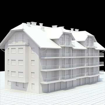 apartment house 1 3d model blend lwo lxo obj 103550