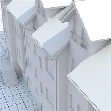 apartment house 1 3d model blend lwo lxo obj 103554