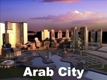arab city 3d model max psd 91783