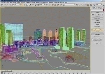 arab city 3d model max psd 91786
