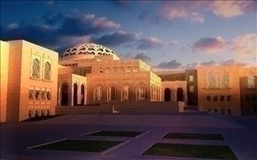 arab mosque 3d model max psd 91802