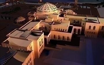 arab mosque 3d model max psd 91803