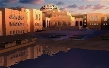 arab mosque 3d model max psd 91804