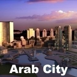 Arab city ( 81.04KB jpg by rose_studio )
