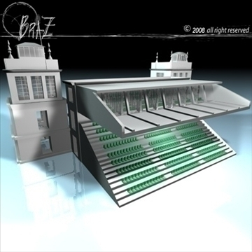 arenas tribune 3d model 3ds dxf c4d obj 88126