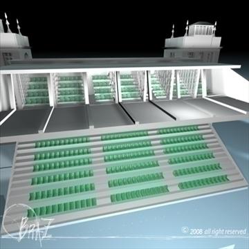 arenas tribune 3d model 3ds dxf c4d obj 88131