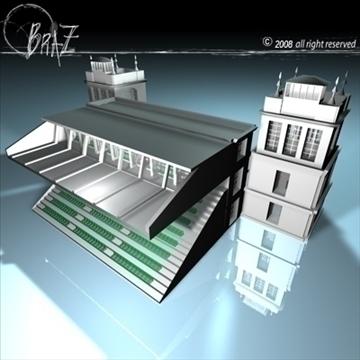arenas tribune 3d model 3ds dxf c4d obj 88132