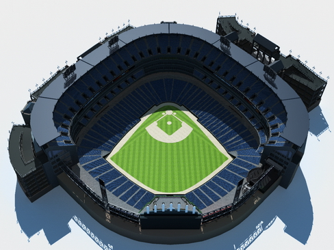 baseball stadium arena 3d model 3ds max c4d lwo ma mb obj 113796
