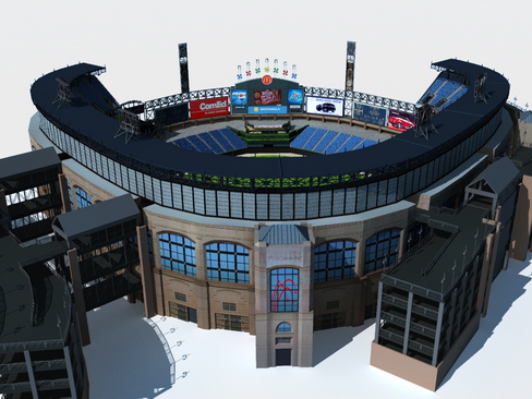 baseball stadium arena 3d model 3ds max c4d lwo ma mb obj 113797