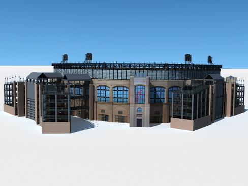 бейсболын стадионы арена 3d загвар 3ds хамгийн их c4d lwo ма мб obj 113798