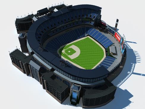 бейсболын стадионы арена 3d загвар 3ds хамгийн их c4d lwo ма мб obj 113804