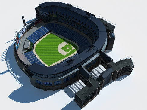 baseball stadium arena 3d model 3ds max c4d lwo ma mb obj 113805