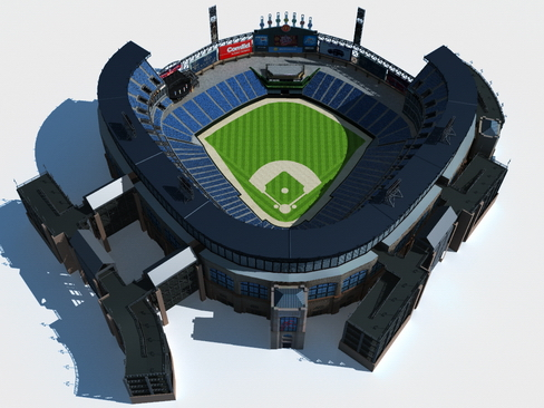 baseball stadium arena 3d model 3ds max c4d lwo ma mb obj 113806