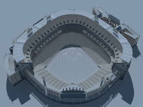 stadium baseball arena 3d model 3ds max c4d lwo ma mb obj 113808