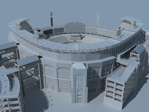 stadium baseball arena 3d model 3ds max c4d lwo ma mb obj 113809