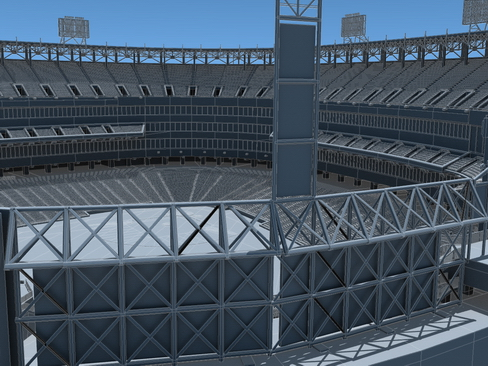 baseball stadium arena 3d model 3ds max c4d lwo ma mb obj 113812