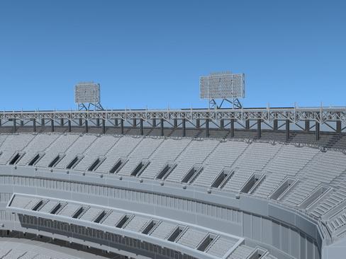 бейсболын стадионы арена 3d загвар 3ds хамгийн их c4d lwo ма мб obj 113814