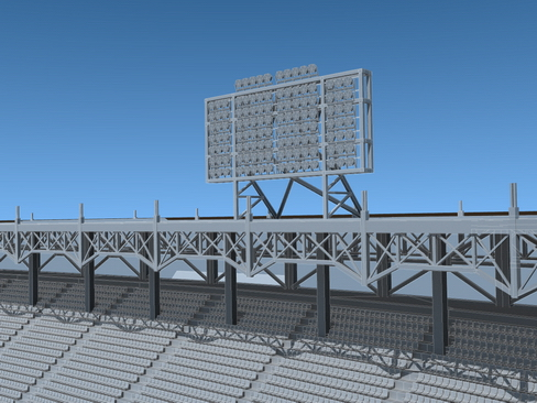 stadium baseball arena 3d model 3ds max c4d lwo ma mb obj 113815