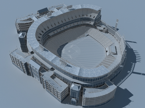 baseball stadium arena 3d model 3ds max c4d lwo ma mb obj 113816