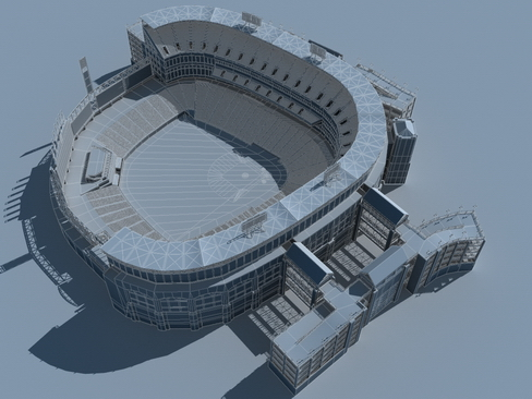baseball stadium arena 3d model 3ds max c4d lwo ma mb obj 113817