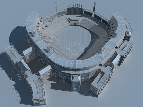 stadium baseball arena 3d model 3ds max c4d lwo ma mb obj 113818