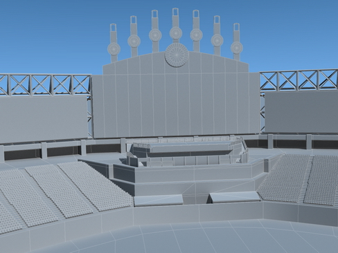 stadium baseball arena 3d model 3ds max c4d lwo ma mb obj 113819