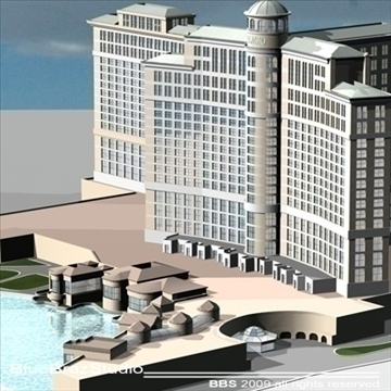 bellagio hotel las vegas 3d model 3ds dxf c4d obj 97292