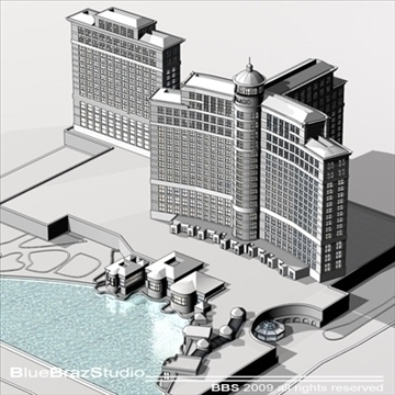 bellagio hotel las vegas 3d model 3ds dxf c4d obj 97294