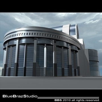 bruxelles european parliament 3d model 3ds dxf c4d obj 102769