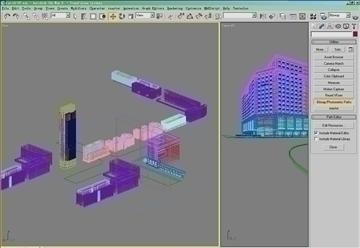 building 016 3d model max psd 90409