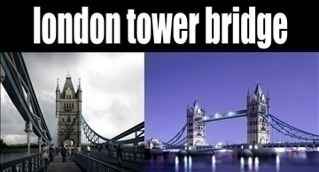 pagtatayo 130 - london tower bridge 3d modelo 3ds max psd 90652