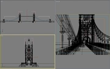 pagtatayo 130 - london tower bridge 3d modelo 3ds max psd 90654