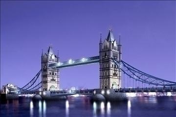pagtatayo 130 - london tower bridge 3d modelo 3ds max psd 90655
