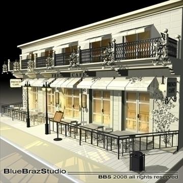 kafejnīcas restorāna fasāde 3d modelis 3ds dxf c4d obj 93204