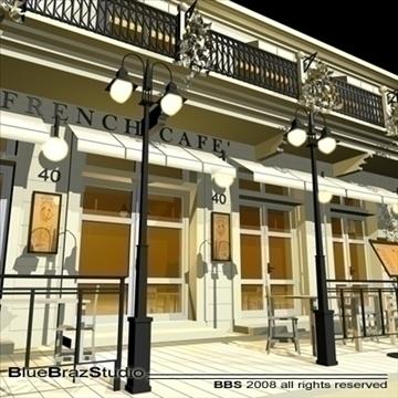 cafe restaurant facade 3d model 3ds dxf c4d obj 93206