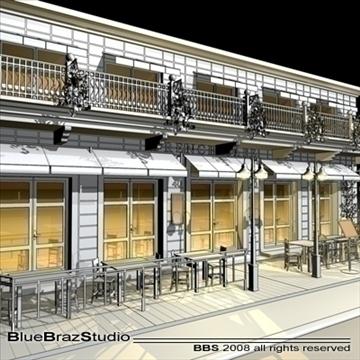 cafe restaurant facade 3d model 3ds dxf c4d obj 93213