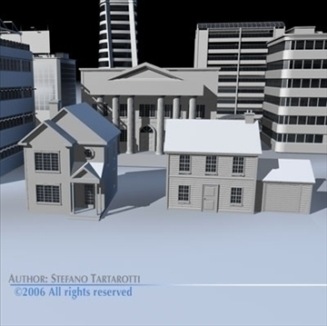 city pack 1 3d model 3ds dxf c4d obj 82236