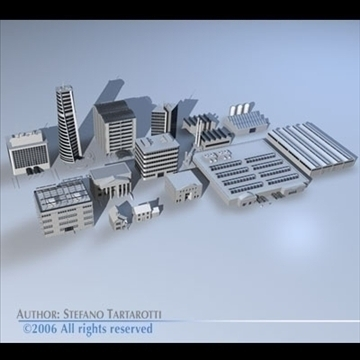 city pack 1 3d model 3ds dxf c4d obj 82241