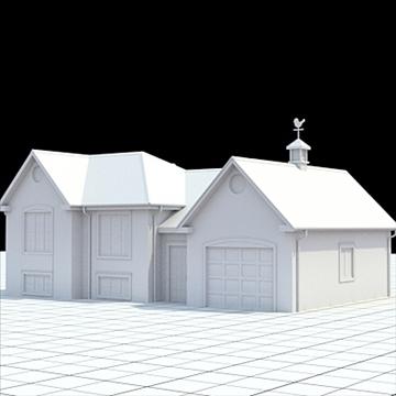 colonial style house 1 3d model lwo lxo obj 103821