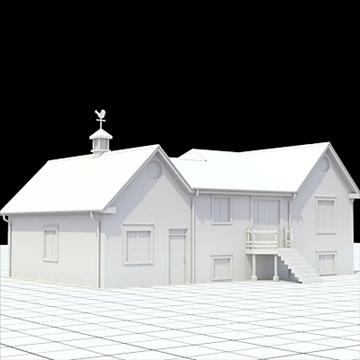 colonial style house 1 3d model lwo lxo obj 103822