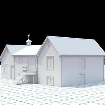 colonial style house 1 3d model lwo lxo obj 103823