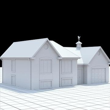 colonial style house 1 3d model lwo lxo obj 103824