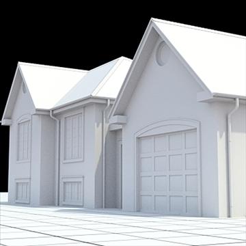 colonial style house 1 3d model lwo lxo obj 103825