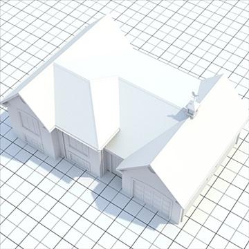colonial style house 1 3d model lwo lxo obj 103826