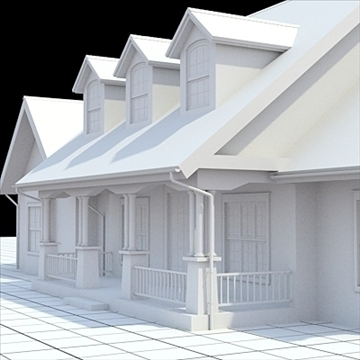 cottage style house 1 3d model lwo lxo obj 104164