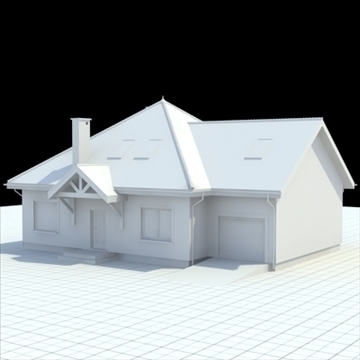 cozy single family house 3d model blend lwo lxo obj 100217